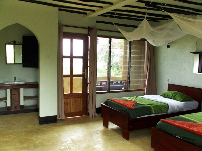 Fort Murchison twin room, Murchison Falls national park, Uganda