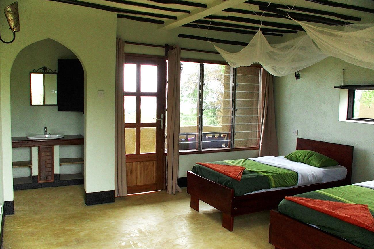 Fort Murchison twin room, Murchison Falls national park, Uganda