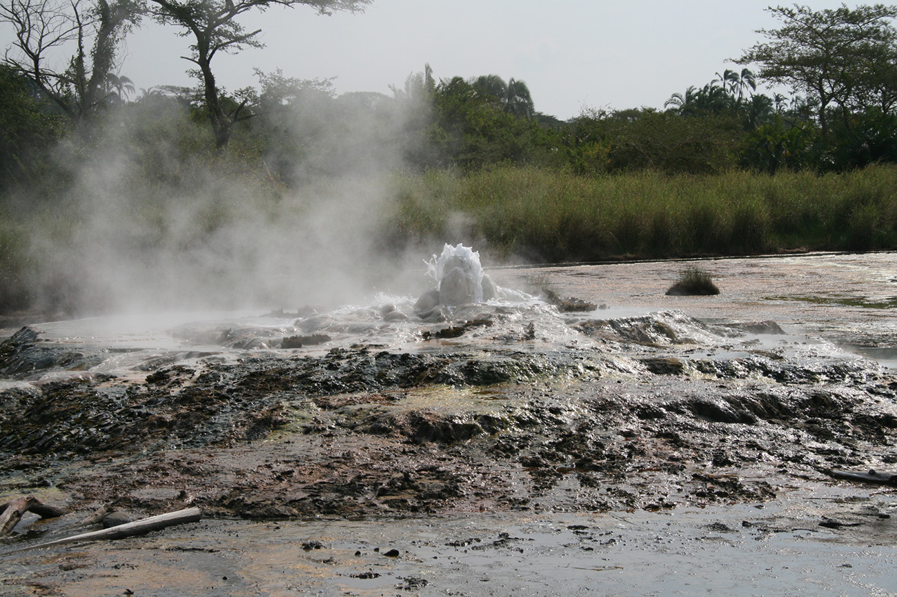 Sempaya Hot Springs in Uganda.