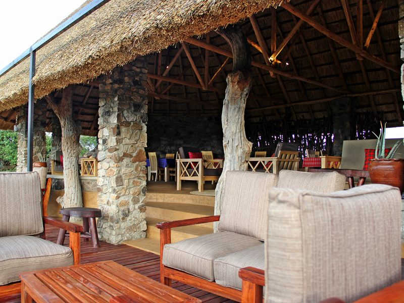 Kidepo Savannah Lodge lounge northern Uganda