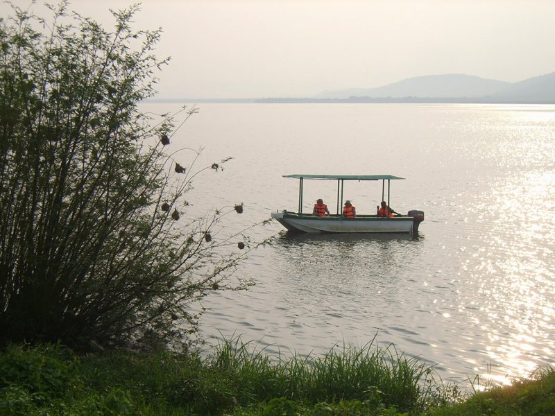 Boat on Lake Mburo, Uganda