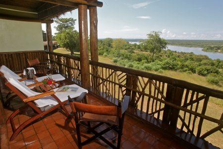 View of river Nile from Paraa Safari Lodge, Murchison Falls national park, Uganda