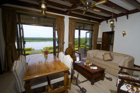 Paraa Safari Lodge lounge Murchison falls national park