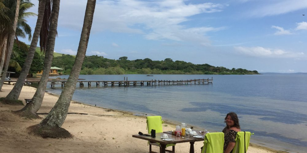 Enjoy a beach breakfast at Pineapple Bay, Ssese Island, Uganda
