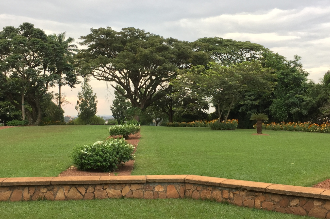 Scenary at Bahai temple Kampala Uganda