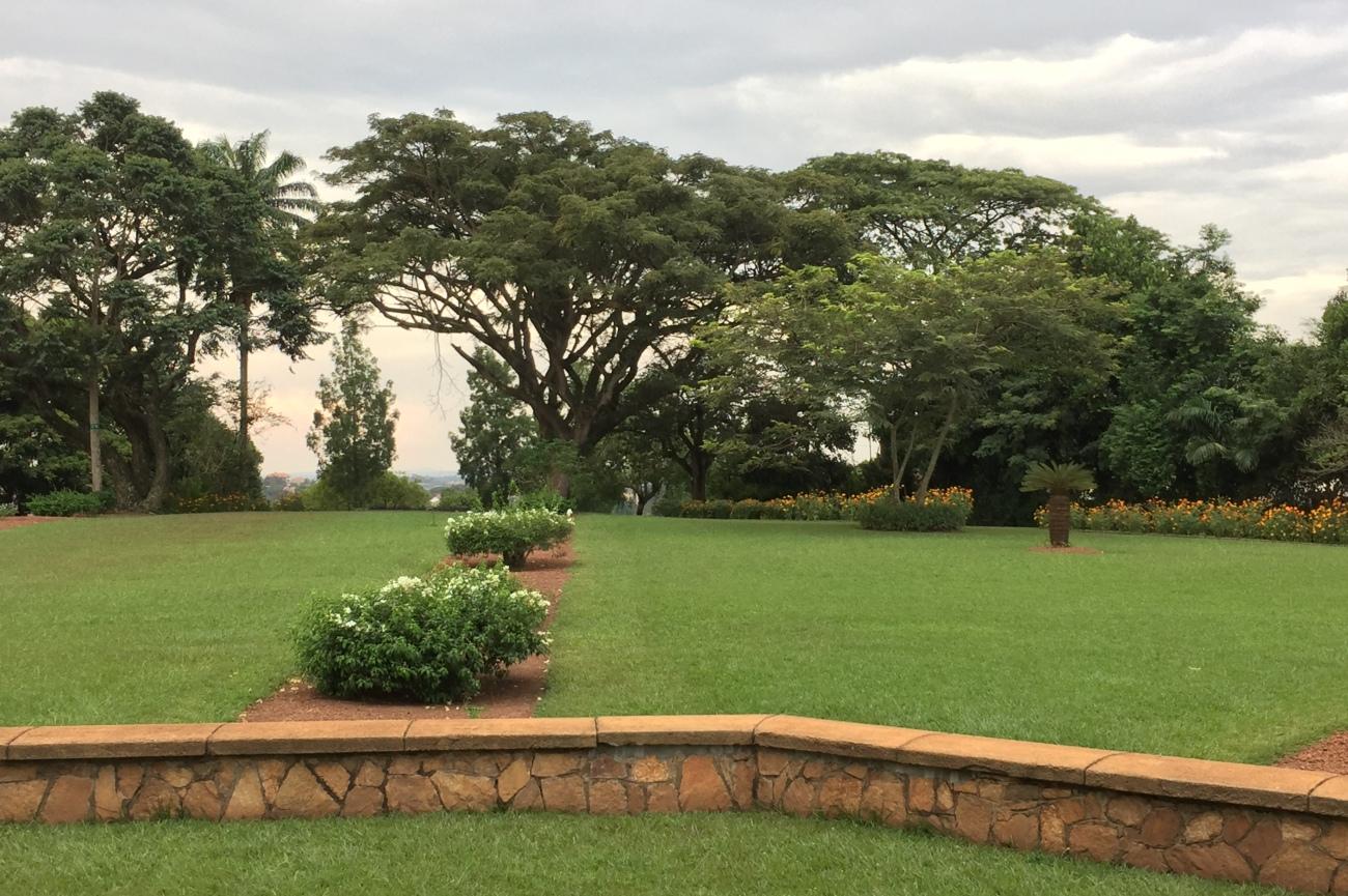 Scenary at Bahai temple Kampala Uganda