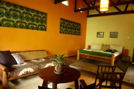 Sipi River Lodge double bedroom Uganda