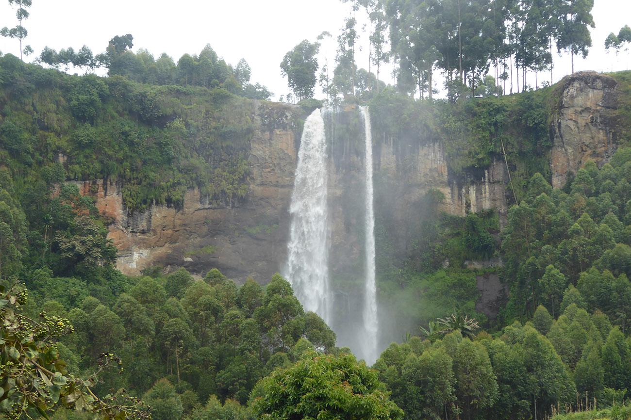 Sipi Falls in Uganda.