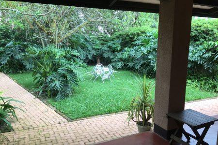 The Boma hotel gardens, Entebbe, Uganda