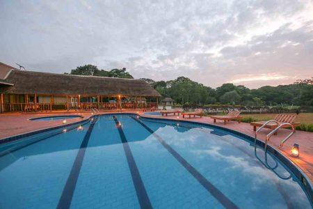 Victoria Forest Resort pool side, Sesse Islands, Lake Victoria, Uganda