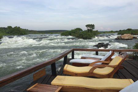 River Nile from Wild Waters Lodge, Jinja, Uganda