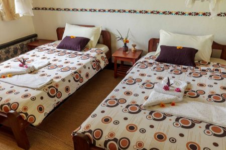 Travellers rest hotel twin beds, Kimbale, Uganda