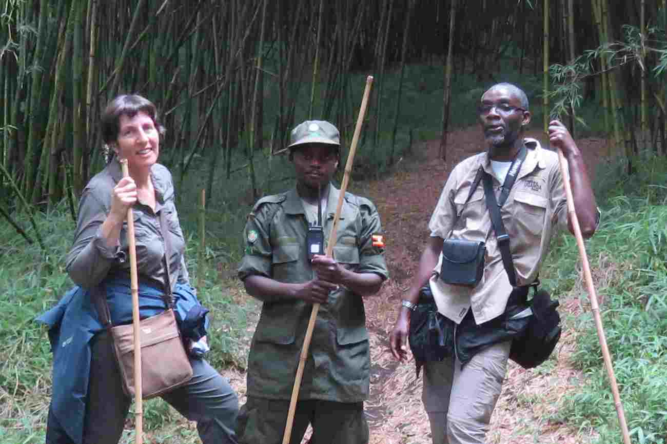 Venture Uganda directors on a hiking safari in Uganda