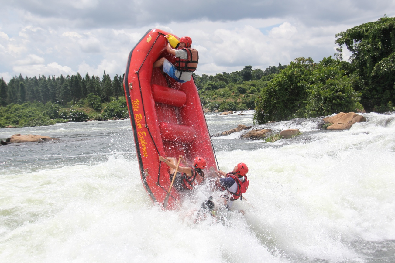 Rafting on river Nile Jinja
