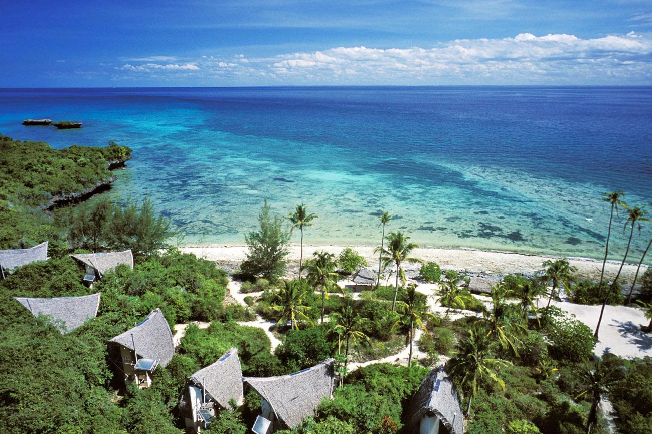 Aerial view of Chumba Island, Zanzibar