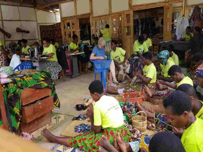 Craft classes at ride for woman aimed at empowering local women of Bwindi