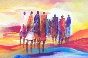 An art piece by Paulo Akiiki a Ugandan artist